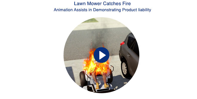 Lawn Mover Catches Fire