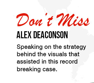 Don't Miss Alex Deaconson. Speaking on the strategy behind the visuals that assisted in this record breaking case.