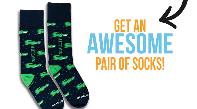 Get An Awesome Pair Of Socks!