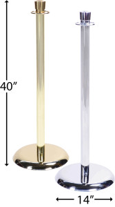 Drape Kings Chrome and Brass Stanchions