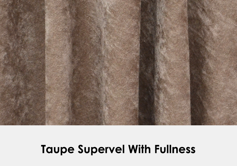Taupe Supervel with Fullness