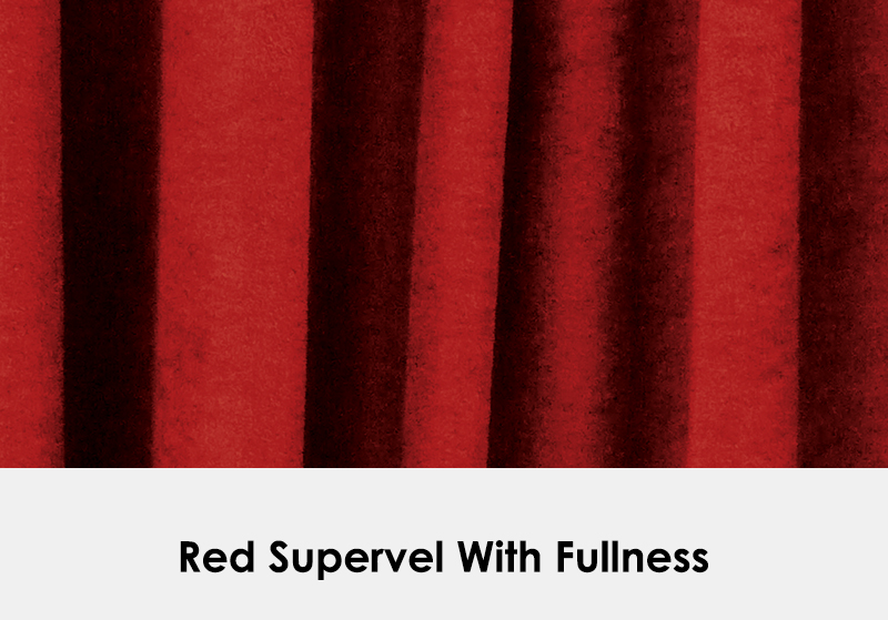 Red Supervel with Fullness