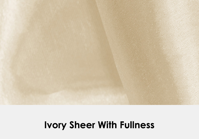 Ivory Sheer with Fullness