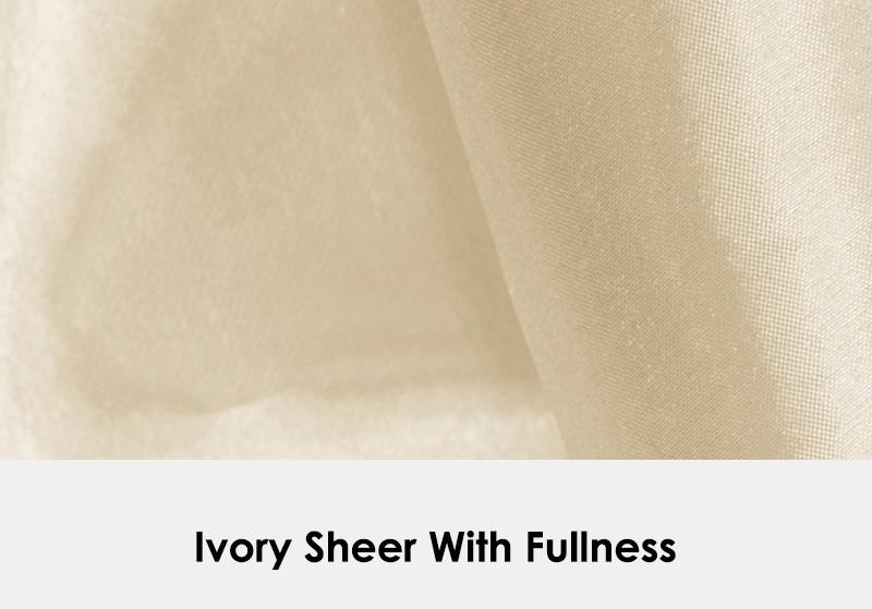 Ivory Sheer with Fullness