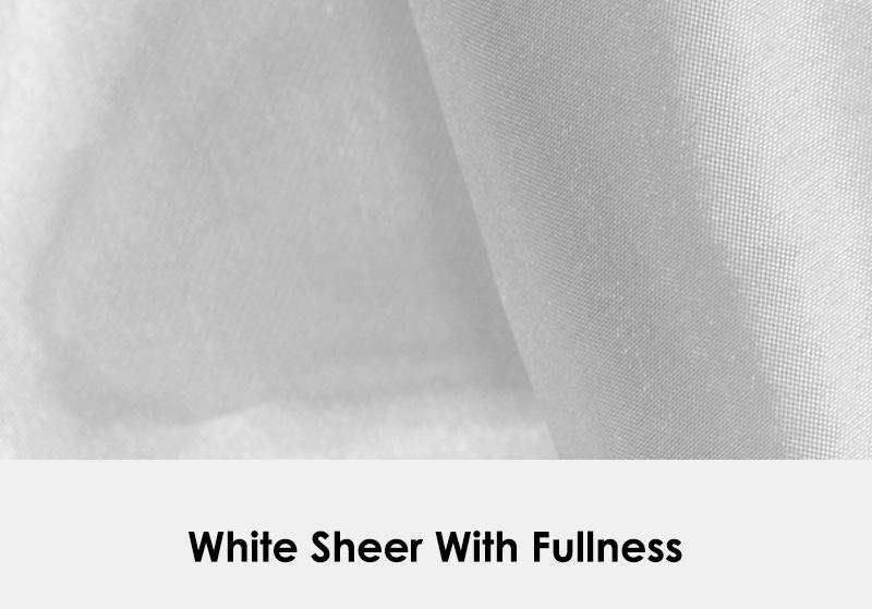 White Sheer with Fullness