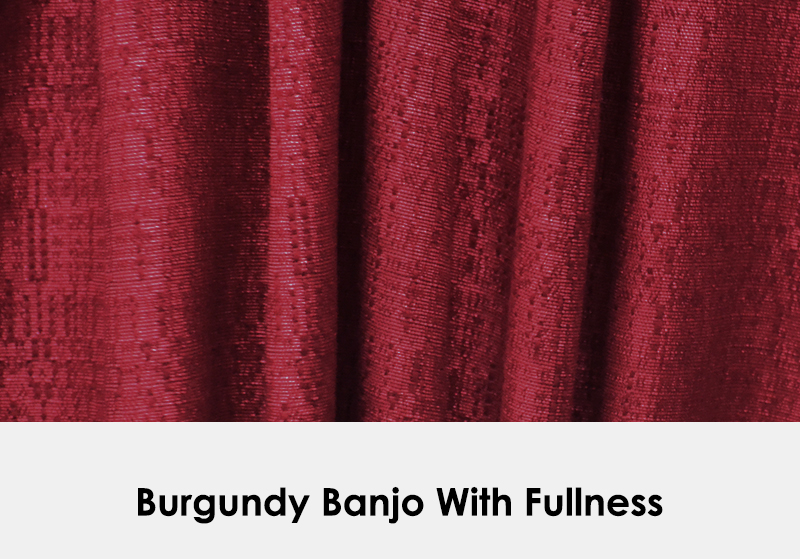 Burgundy Banjo with Fullness