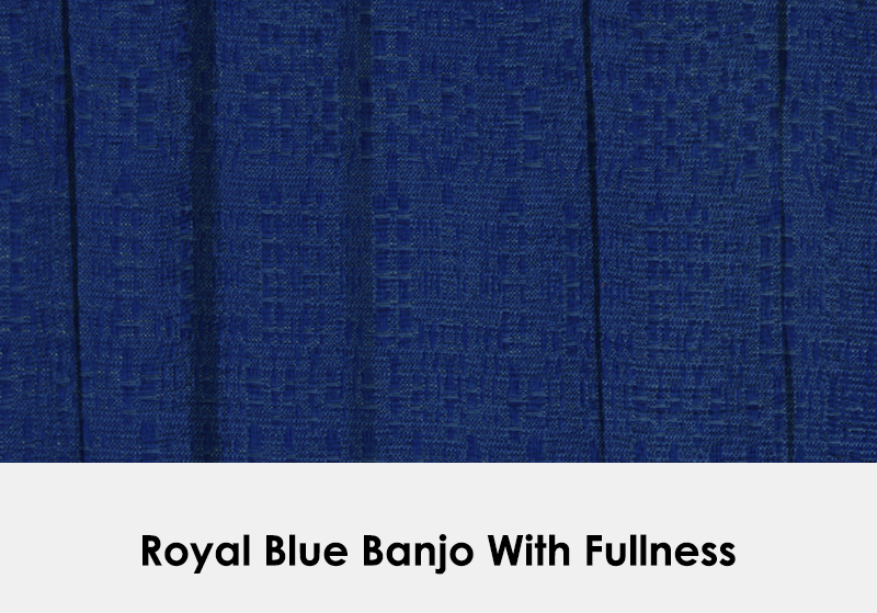 Royal Blue Banjo with Fullness