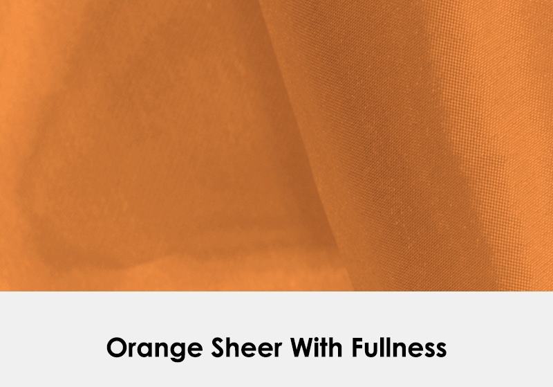 Sheer Orange with Fullness
