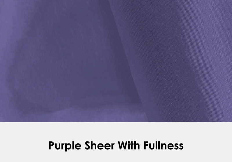 Sheer Purple with Fullness