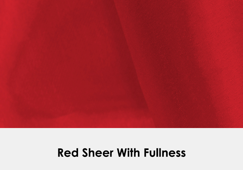Sheer Red with Fullness