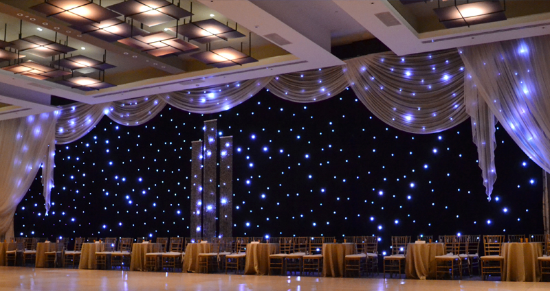 Sheer Jobot with LED Star Drape