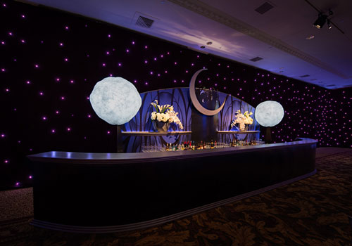 Chameleon LED Star Drape backdrop
