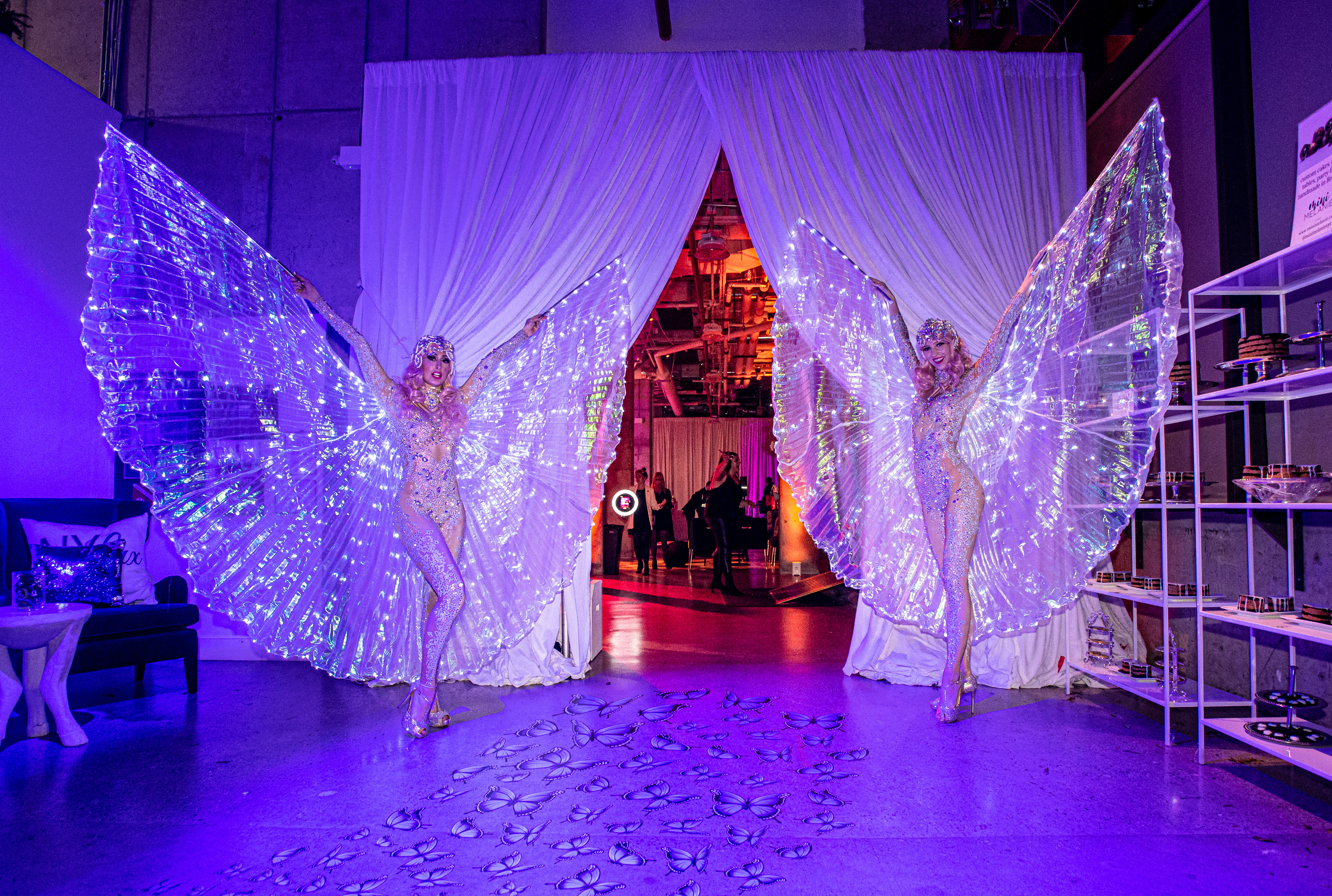 Drape Kings provides top-notch draperies to transform spaces. For this event, the venue used Alpine White Supervel to create a fantasy forest theme for a Halloween party.