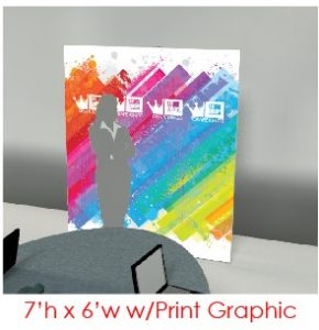 7x6 AV-Drop Modular Printed Virtual Event Backdrops