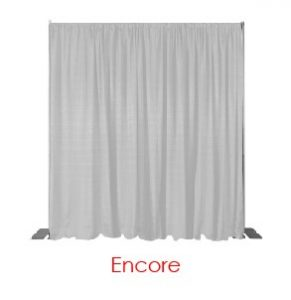 White Encore Drape Virtual Event Backdrops