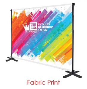 Printed Fabric Logo Virtual Event Backdrops