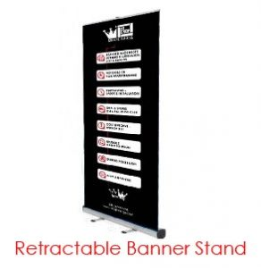 Retractable Printed Banner Virtual Event Backdrops