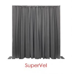 Grey Supervel Drape Virtual Event Backdrops