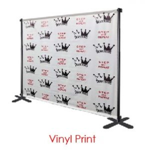 Vinyl Print Logo Virtual Event Backdrops