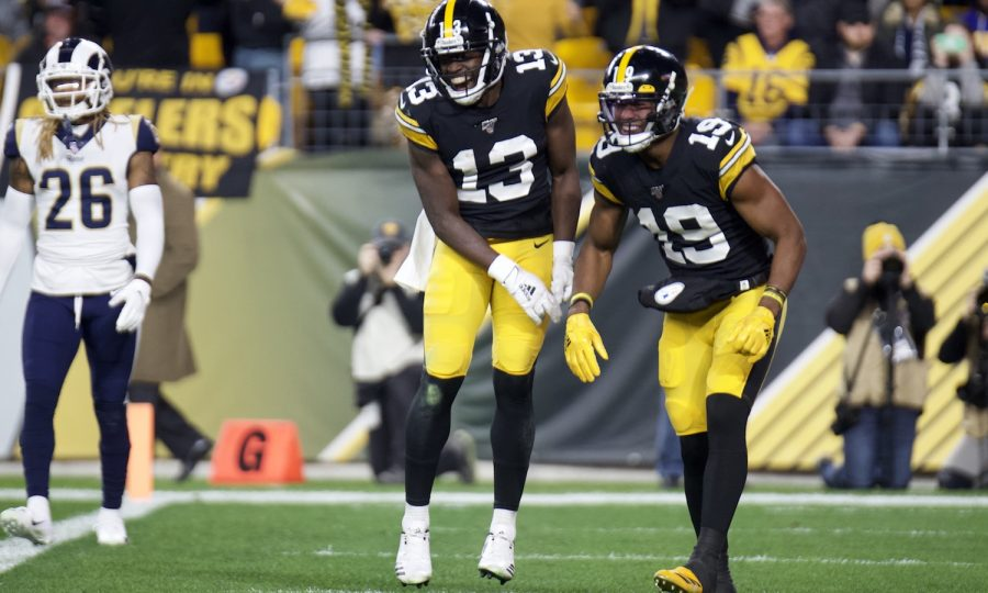 James-washington-pittsburgh-steelers-touchdown-los-angeles-rams