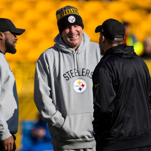 Todd-Haley-Mike-Tomlin-Ben-Roethlisberger-laughing-laugh-pittsburgh-steelers
