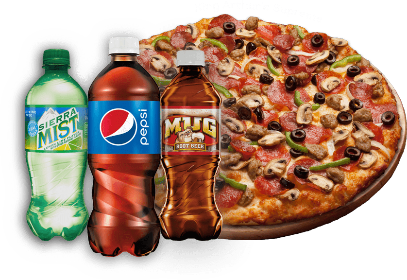 Pizza and Drinks