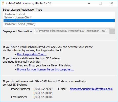 License server registration type