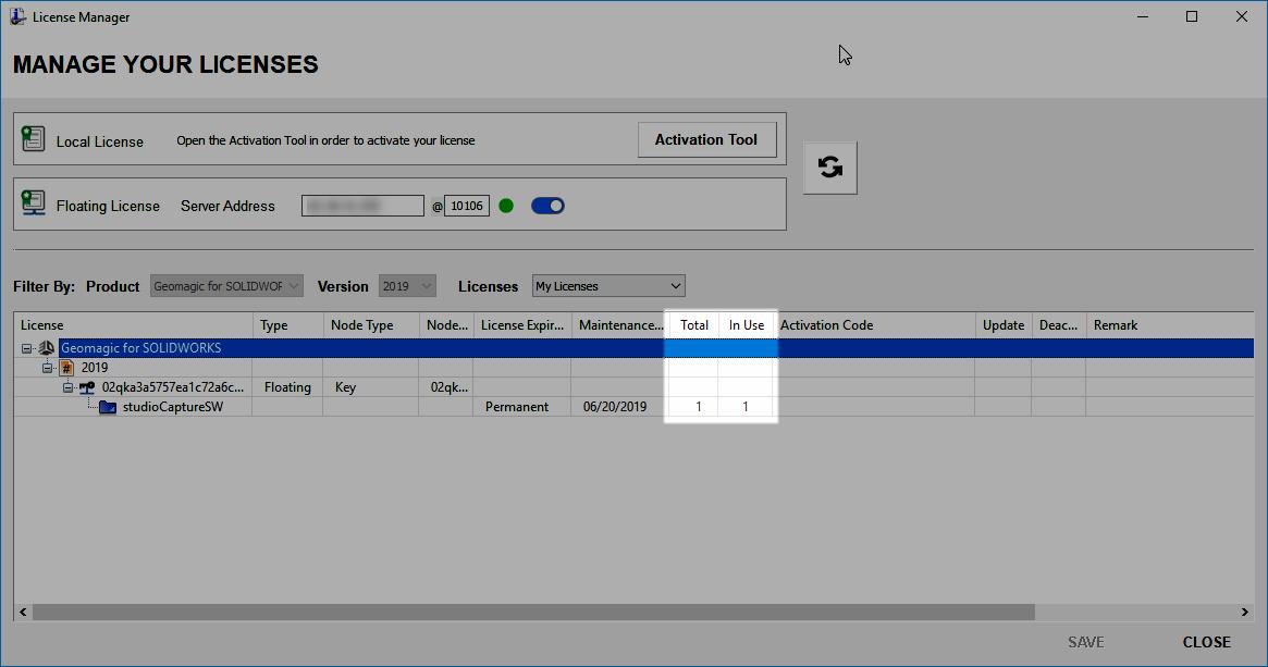 Floating License Server
