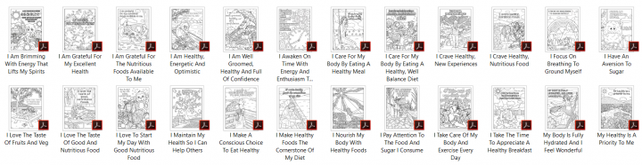 Big Healthy Eating Coloring Pages Mockup 4