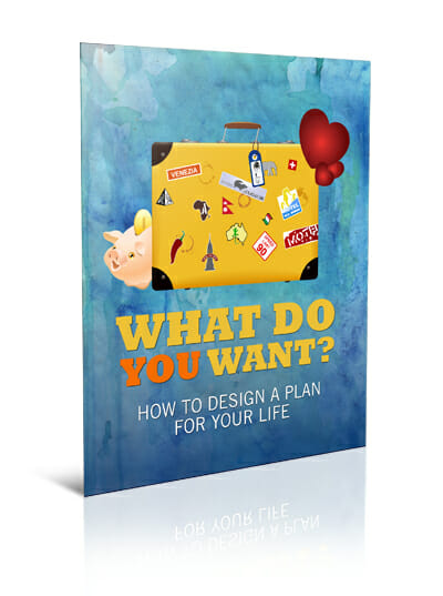Big Lovely Life Designer - What Do You Want? How To Design A Plan For Your Life Guide Mockup 1