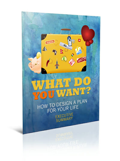 Big Lovely Life Designer - What Do You Want? How To Design A Plan For Your Life Cheatsheet Mockup 1
