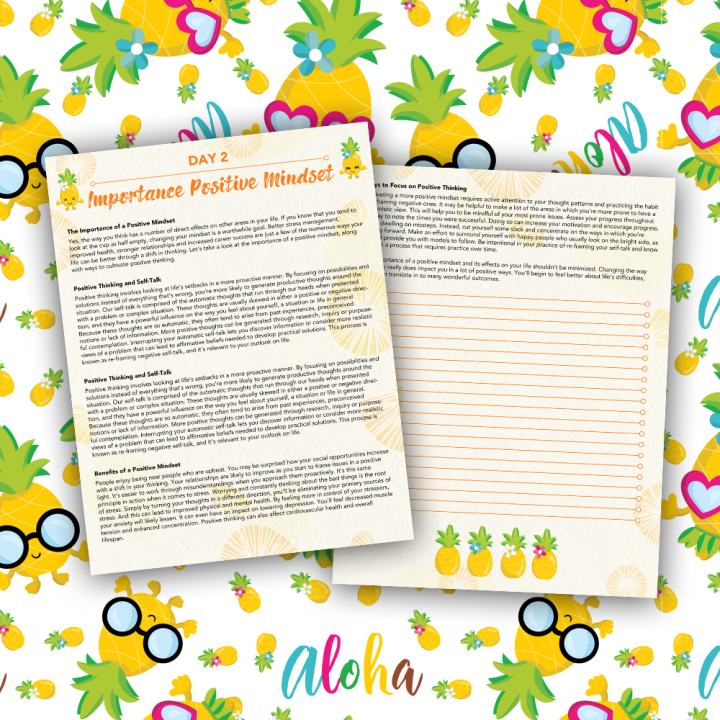 30 Positivity And Self-Growth Lessons For Girl Power Halo of Happiness – Day 2 Printable Journal Pages
