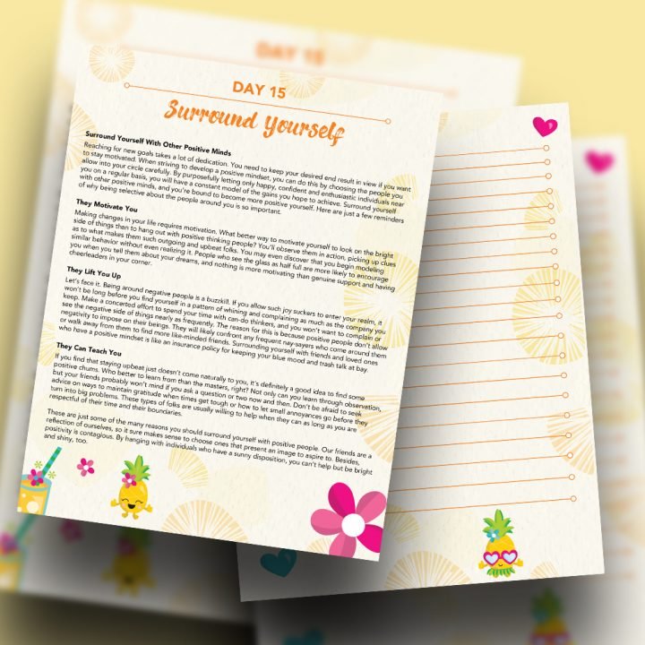 30 Positivity And Self-Growth Lessons For Girl Power Halo of Happiness – Day 15 Printable Journal Pages - Surround Yourself With Other Positive Girls