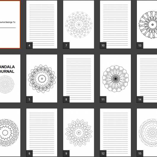 Super Mandala Coloring Journal Notebook Pages Product Image 3