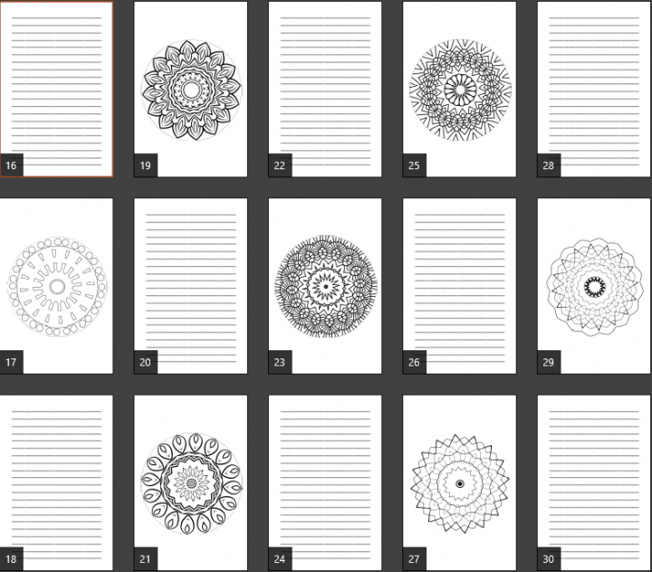 Super Mandala Coloring Journal Notebook Pages Product Image 2