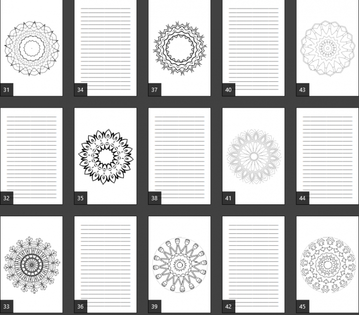 Super Mandala Coloring Journal Notebook Pages Product Image 1