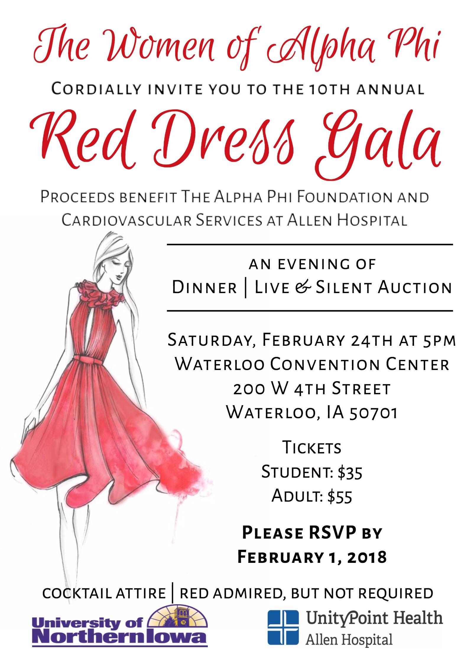 937466ad006 Red Dress Gala. Organizer. University of Northern Iowa Alpha Phi