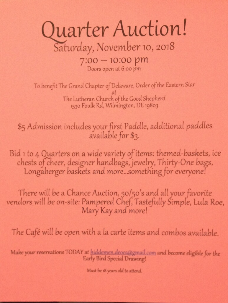 Annual Fundraiser - Quarter Auction