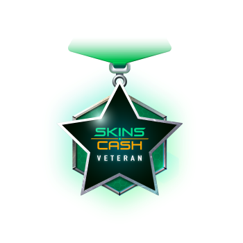 Skins Cash Veteran Badge