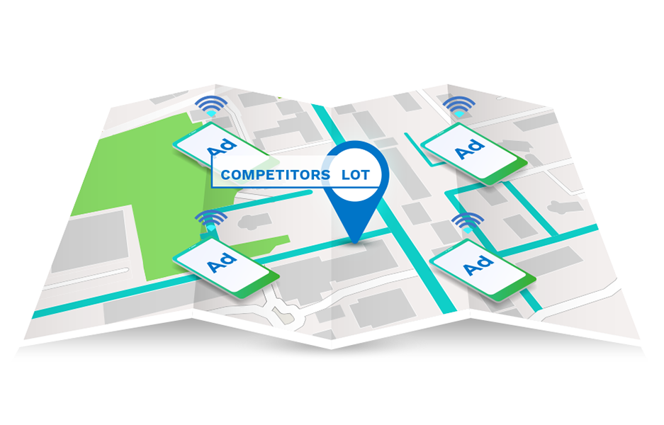 Geo Conquesting to target audiences in your competitor's location