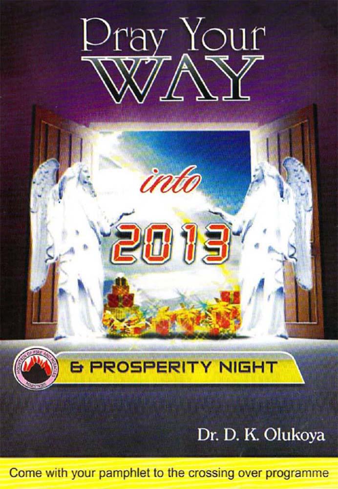 Pray your Way into 2013 & Prosperity Night