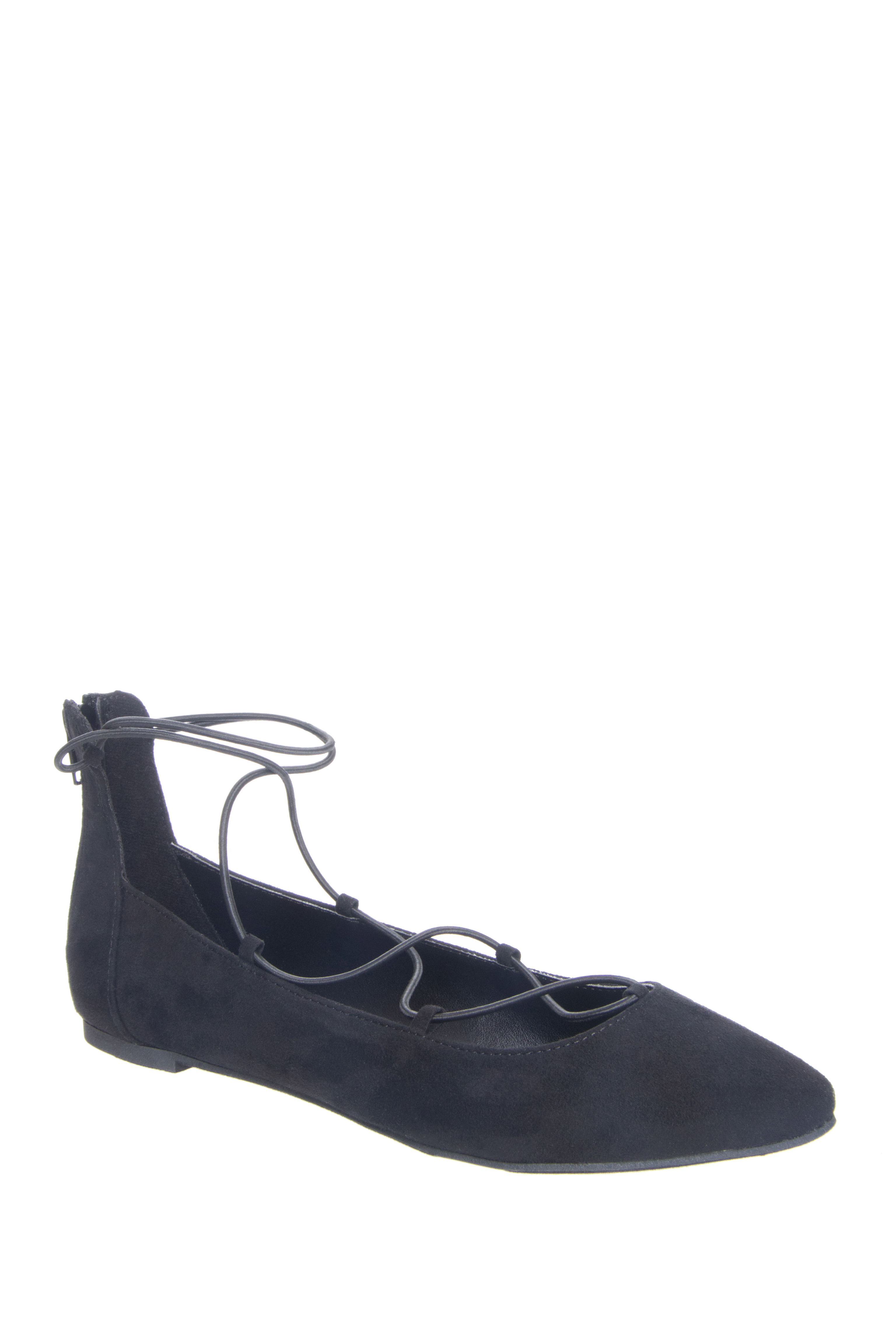 Report Bell Pointed Ballet Flat - Black