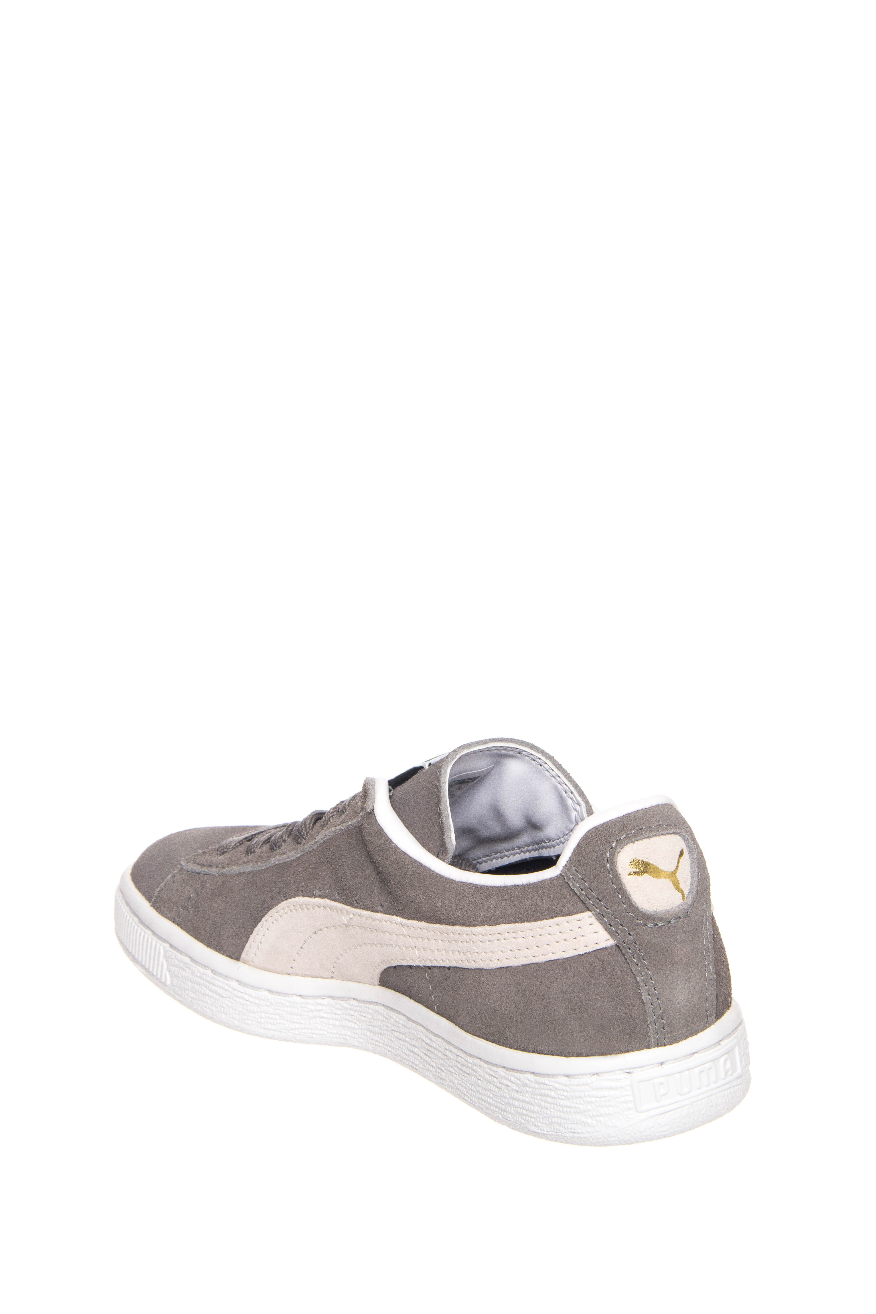 7dda0fc7711d Puma 35263466 Unisex Suede Classic Plus Low Top Sneakers - Steeple Grey    White