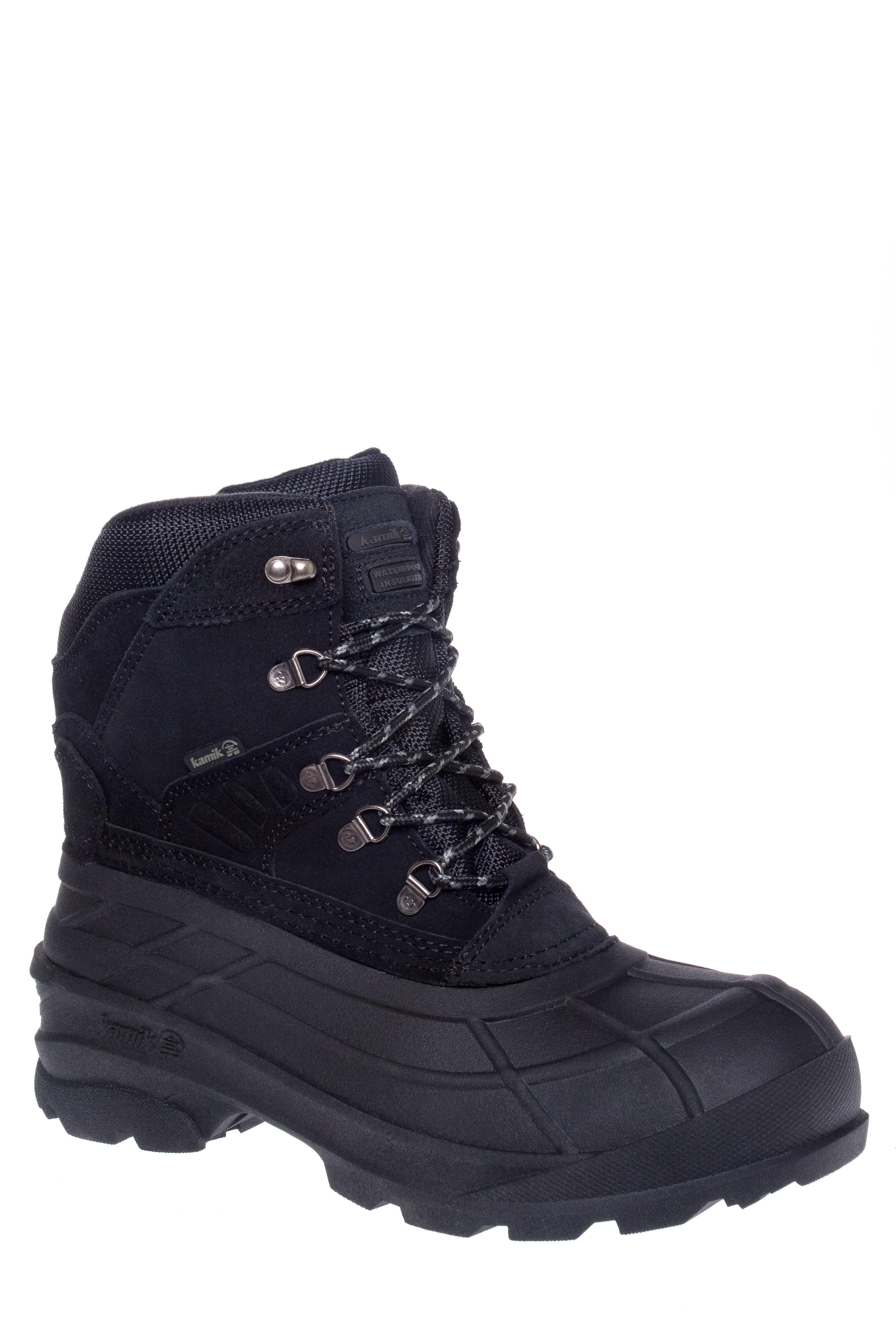 Kamik Fargo Lace-Up Snow Boots - Black