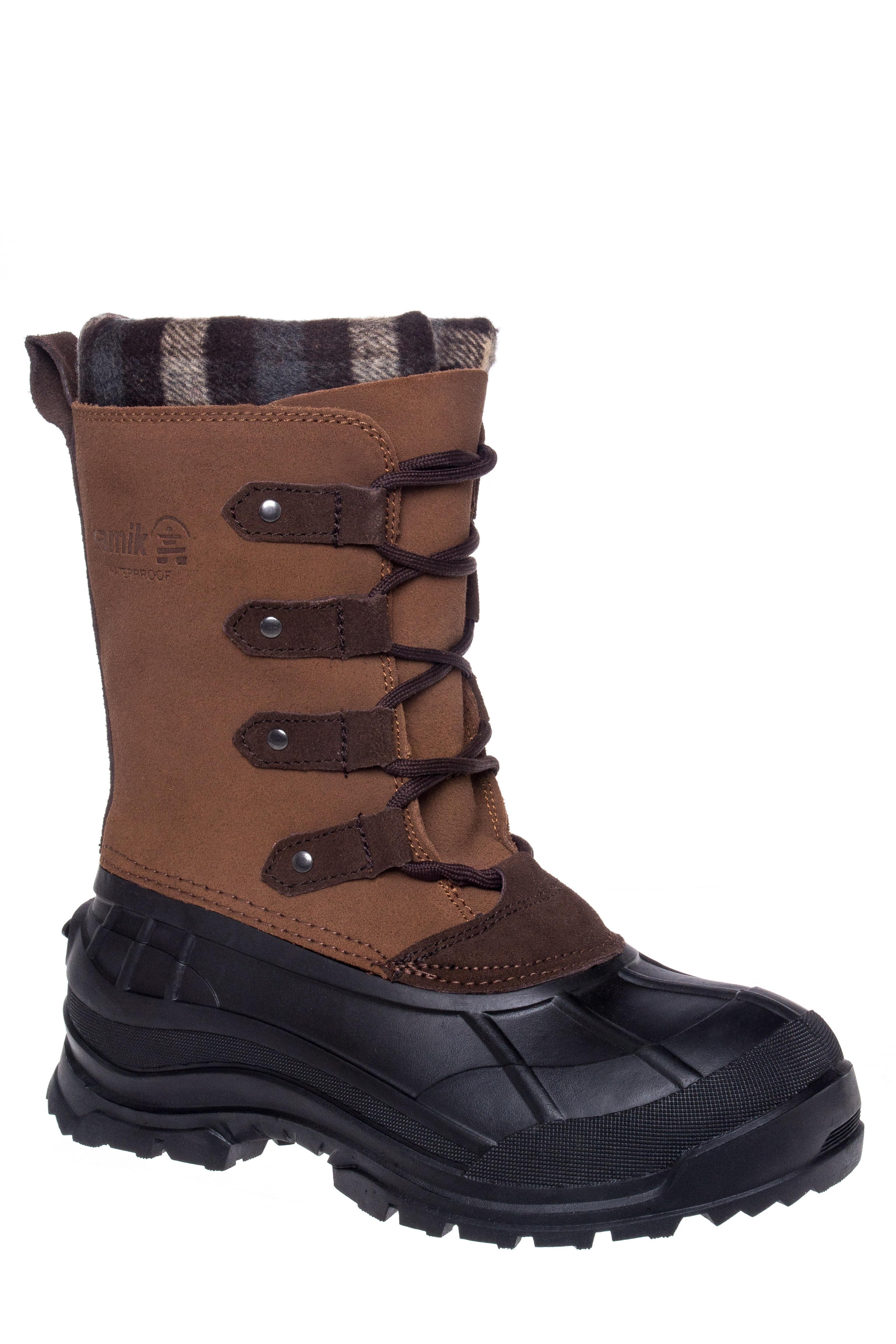 Kamik Calgary Lace-Up Waterproof Snow Boots - Tan