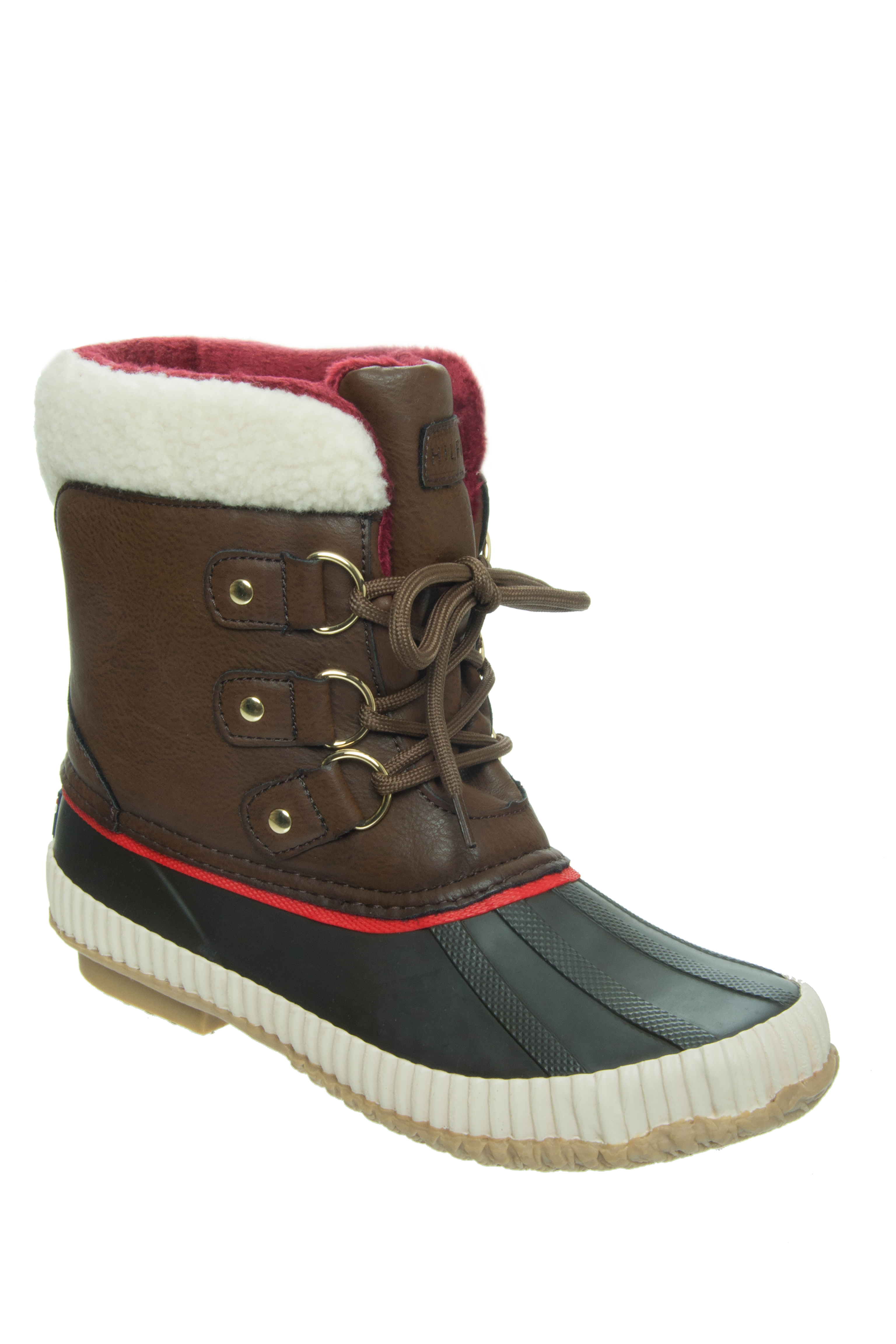 Tommy Hilfiger Ebonie Low Heel Duck Snow Boots - Brown