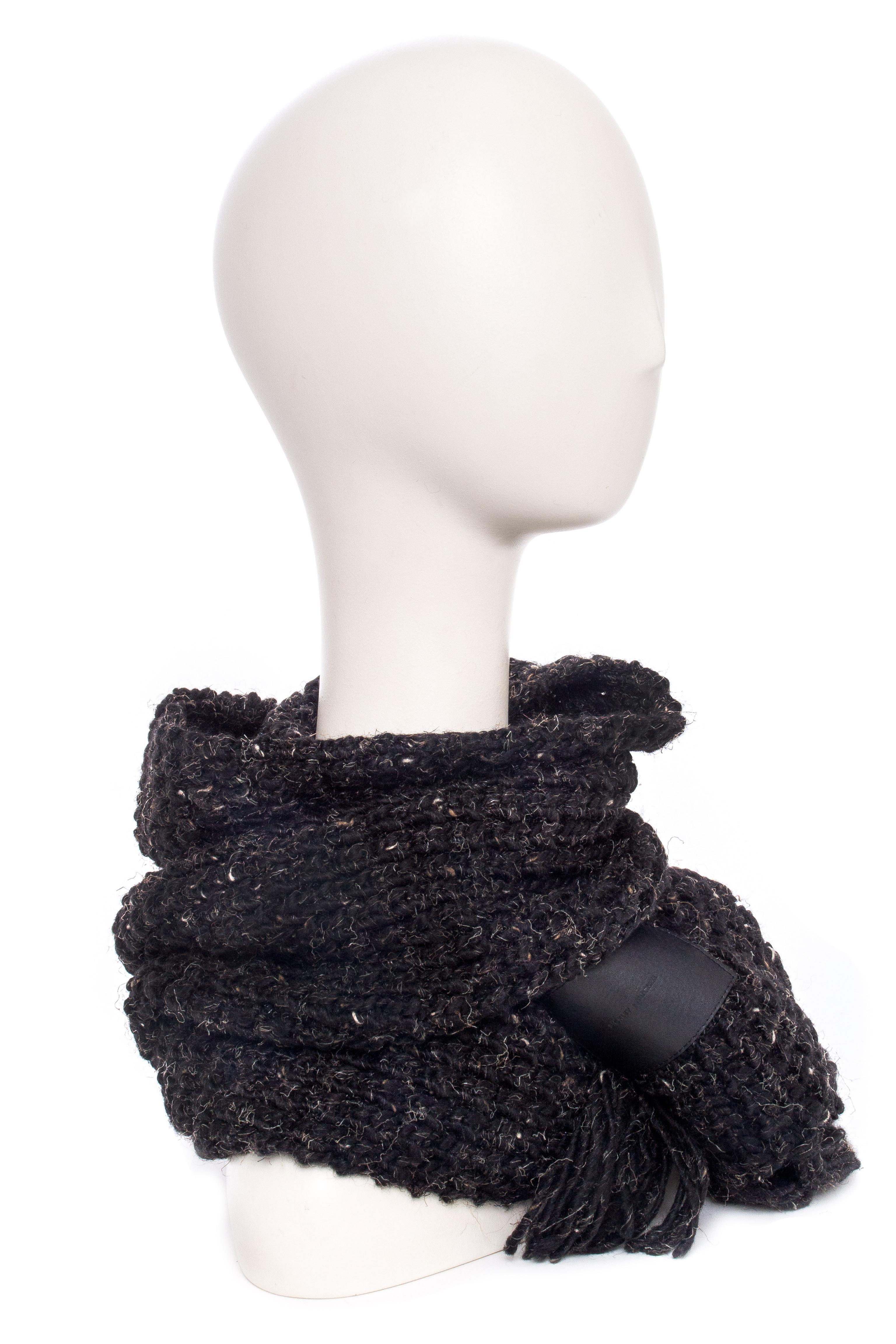 BICKLEY + MITCHELL Warm Multi-Toned Knit Scarf - Black