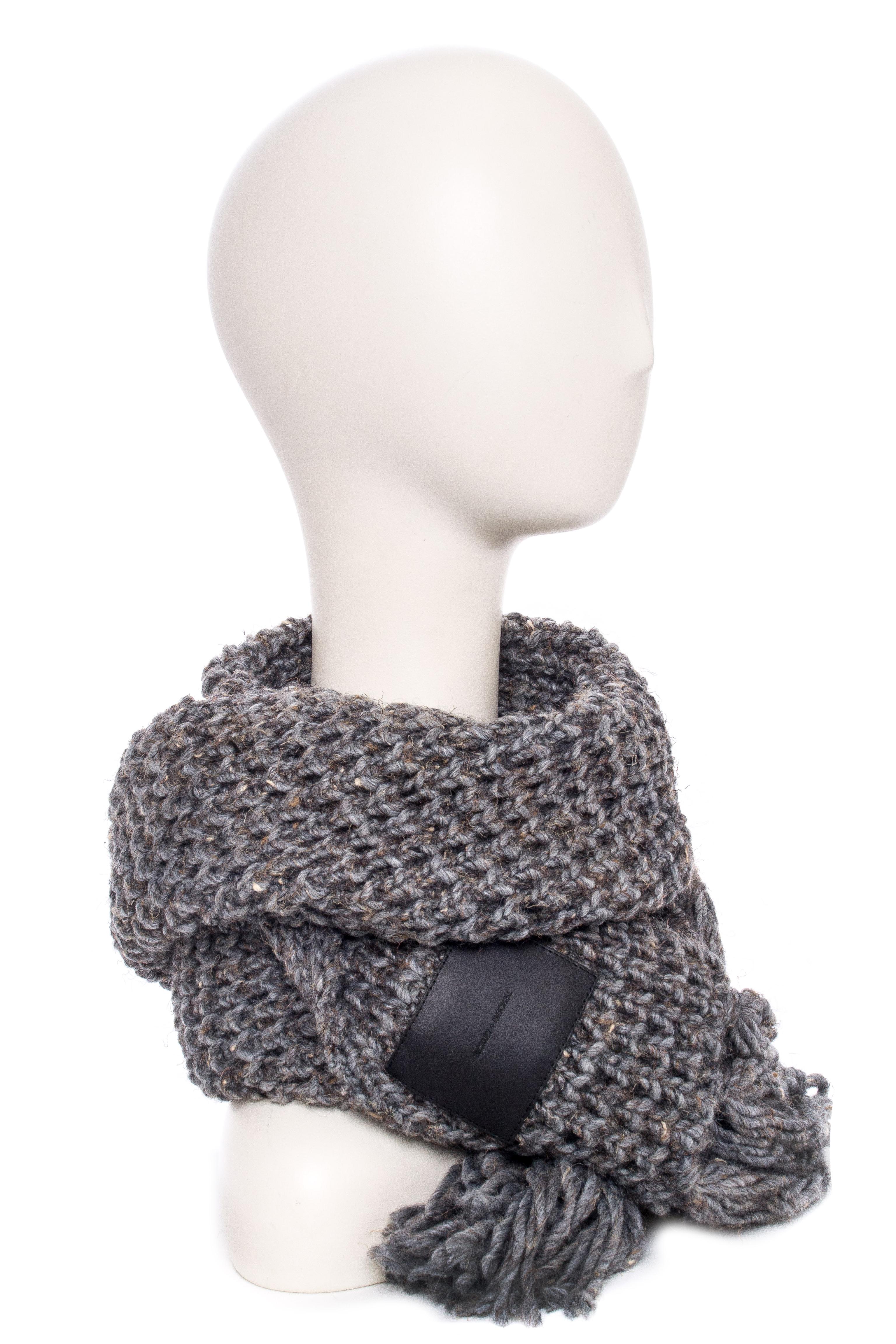 BICKLEY + MITCHELL Warm Multi-Toned Knit Scarf - Grey