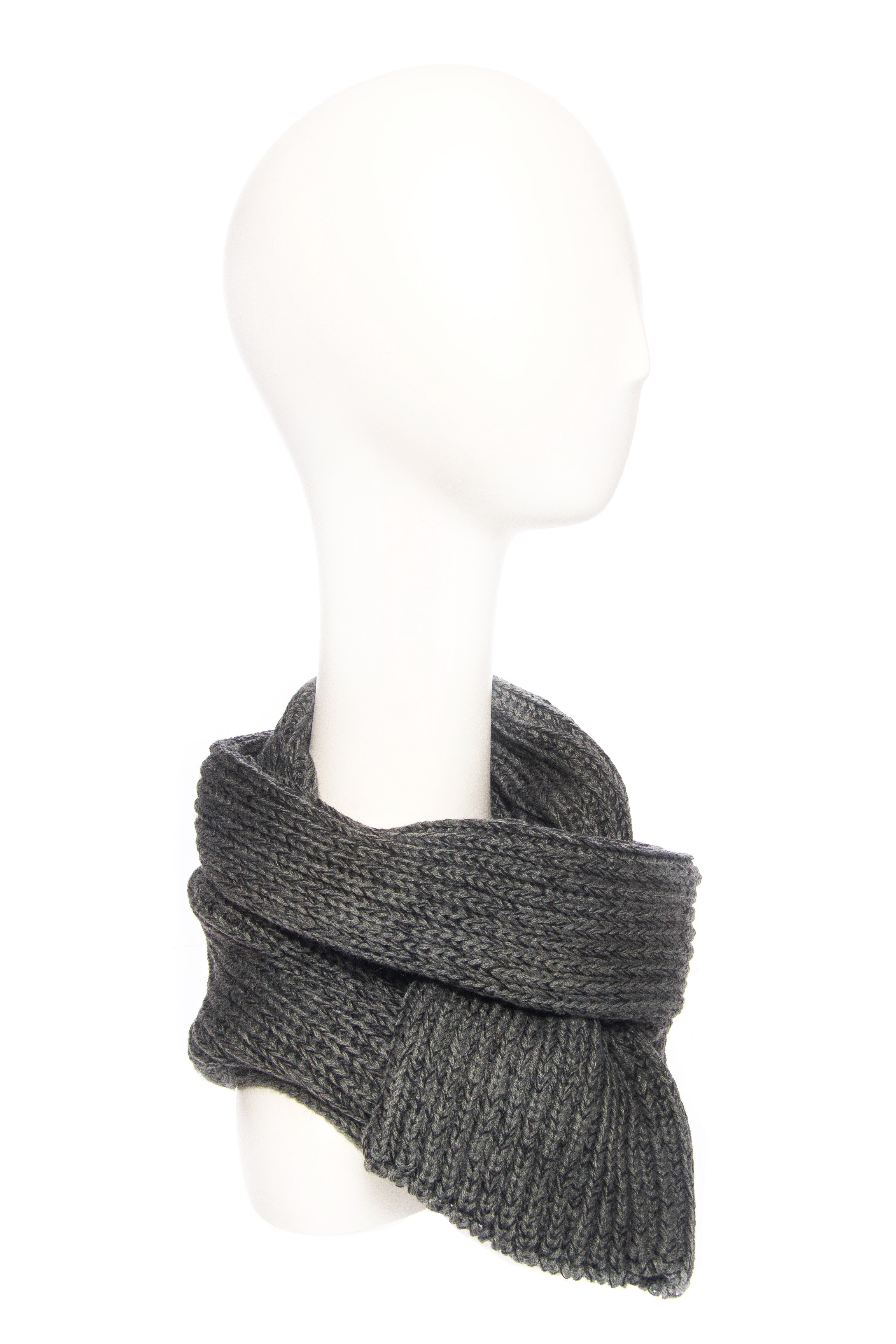 BICKLEY + MITCHELL Ribbed Scarf - Grey