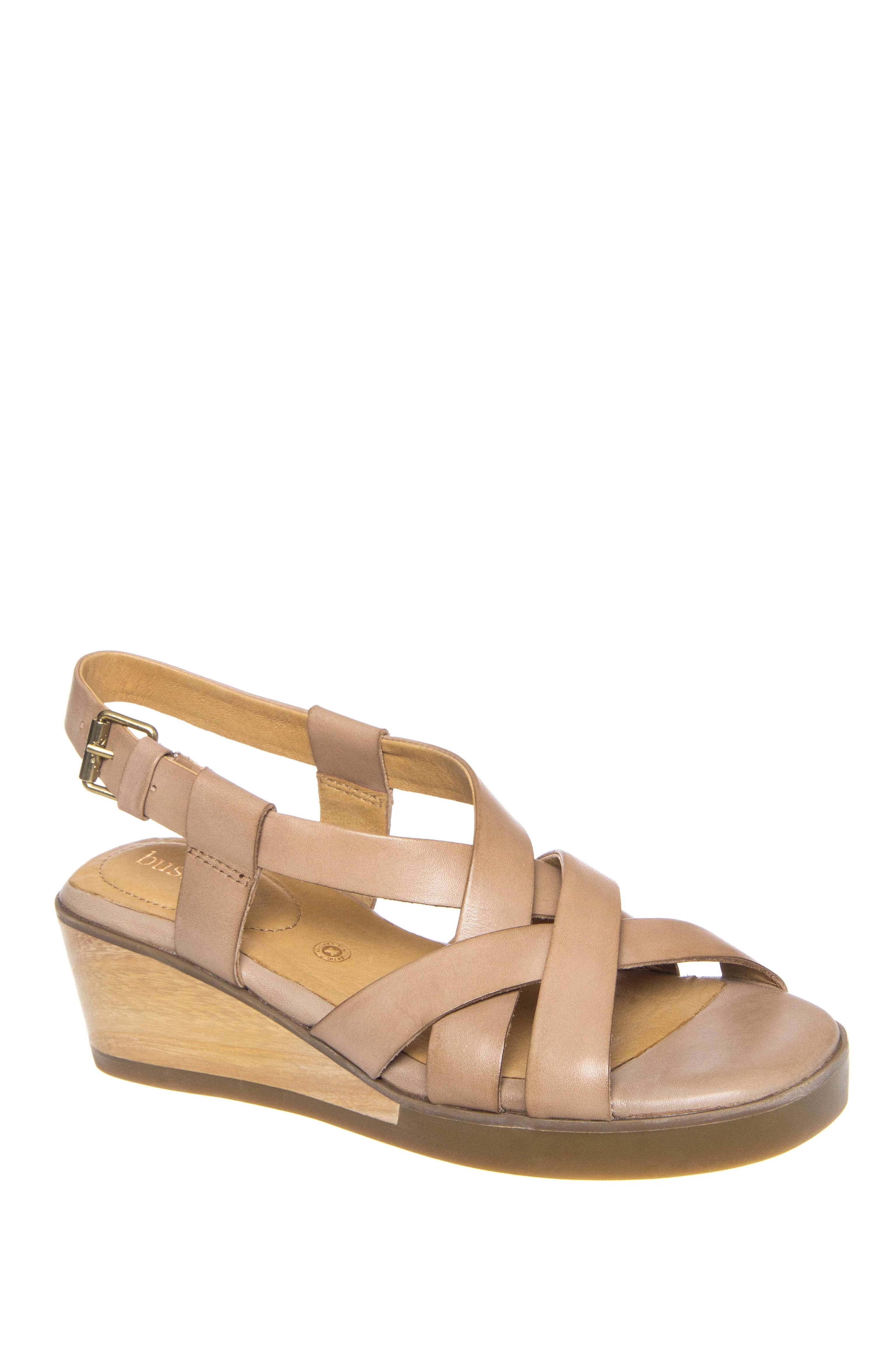 Bussola Massa Mid Wedge Sandals - Doeskin